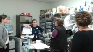 BEFORE: Staff voted to re-organize the medication room. Excess supplies were removed and counter space was added, saving time and improving efficiency on the unit.